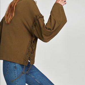 Zara Sweatshirt w/ Metallic Rings